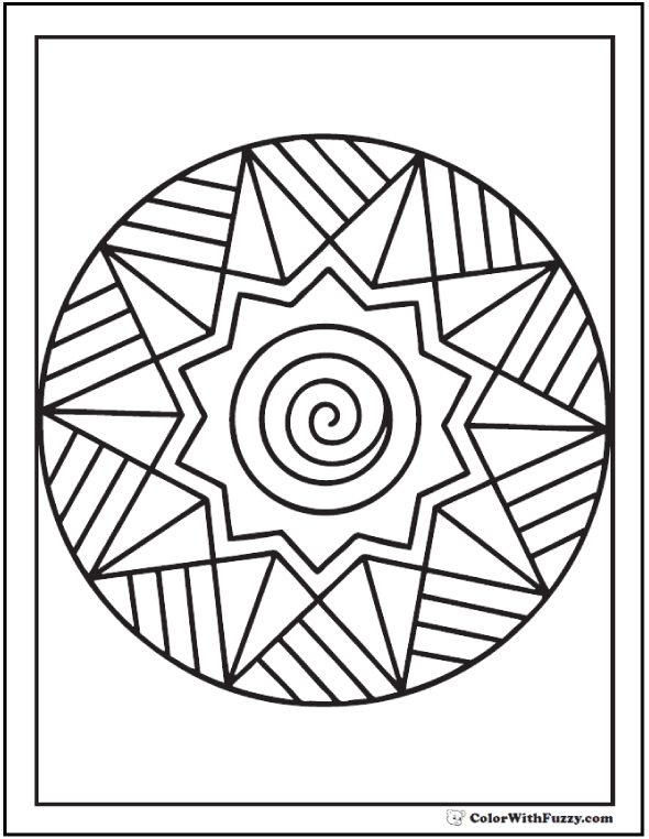 42 Adult Coloring Pages Customize Printable Pdfs Dessin Gratuit Mandala Et Coloriage