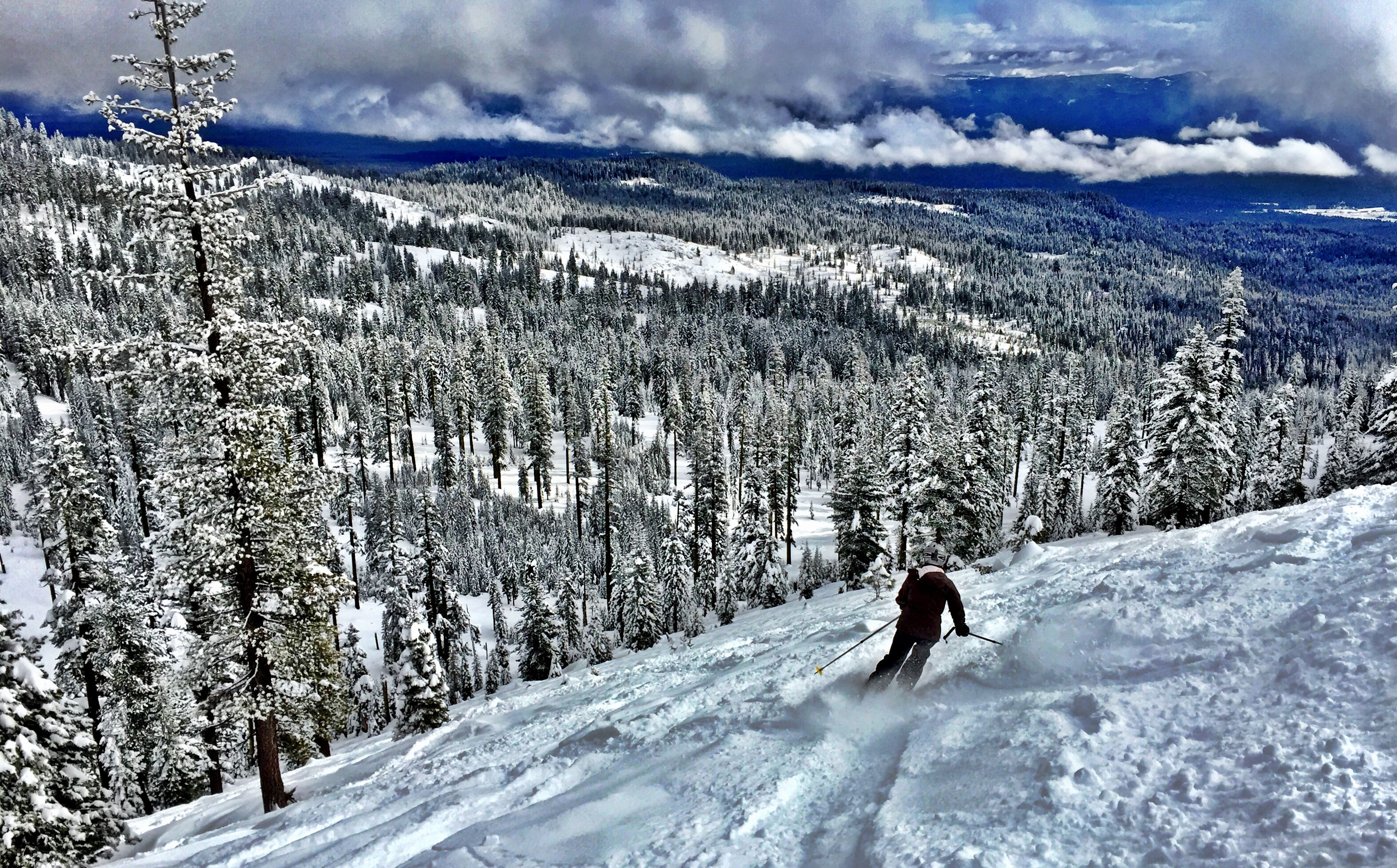 Sneaking a few turns in the Mt Shasta CA sidecountry.  #mountains #backcountry #ski