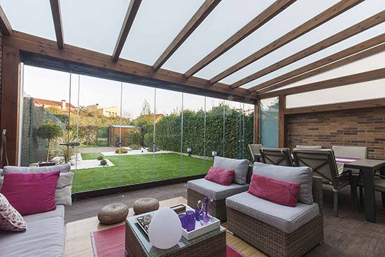 Correderas cristal lumon pamplona echarri 9 jardin - Porches de aluminio y cristal ...