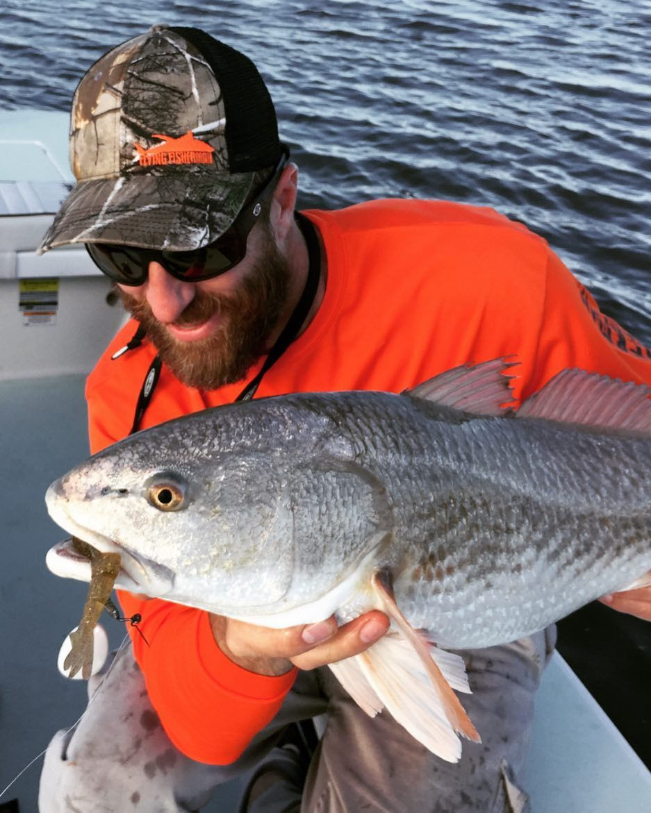 Capt John Lannon was able to see this #redfish with yellow amber ...