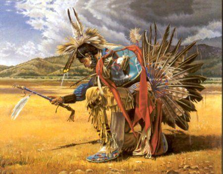 Amazon.com: Native American Indian Rain Dancer On Prairie Wall ...
