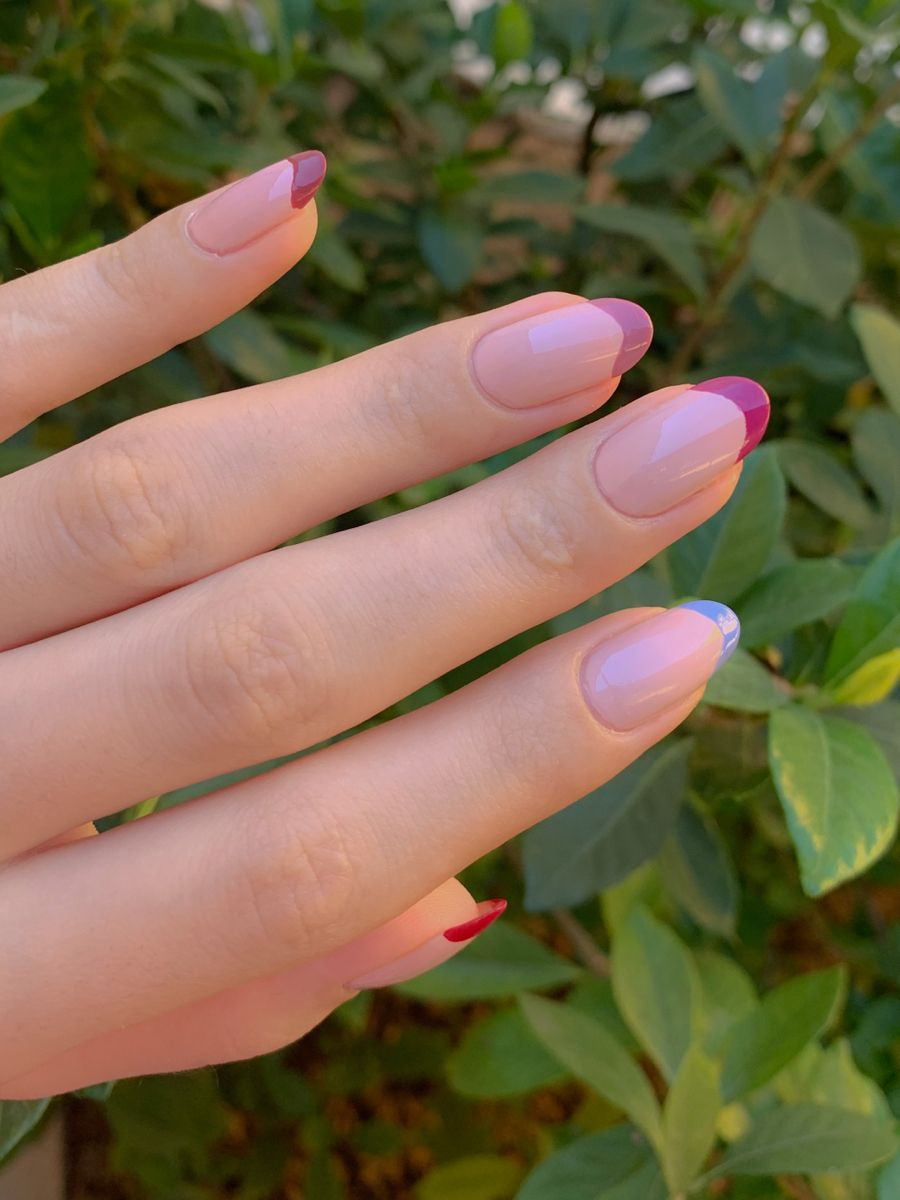 French Tips مناكير فرنش ٢٠٢٠ Nail Designs Nails Beauty