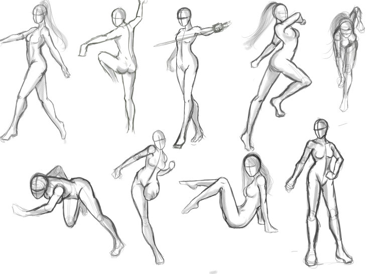 different poses for women drawing - Google Search | drawing tips in