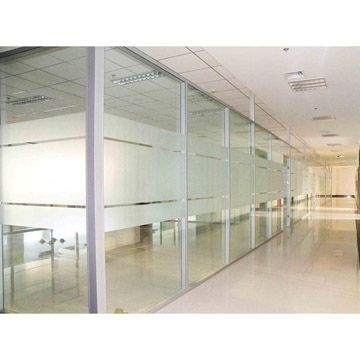 Frosted Glass Strips For At Head Eye Level Above The Wall Office
