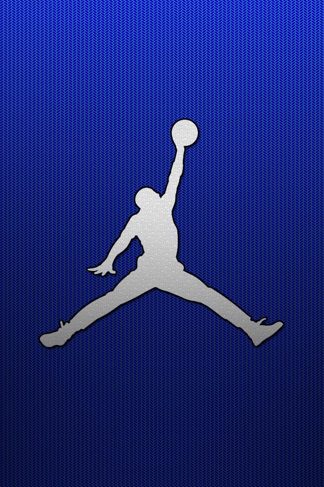 Jordan Blue Jordan Logo Wallpaper Iphone Wallpaper Sports Jordan Background Cool jordan wallpapers wallpapers