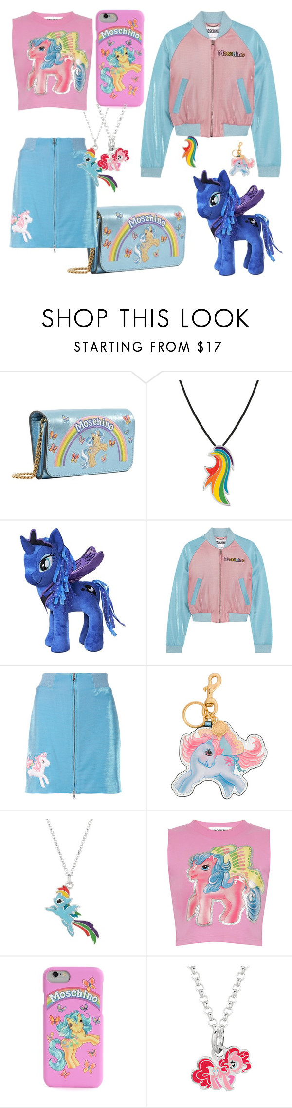 """My Little Pony!"" by qwertyuiop-sparta ❤ liked on Polyvore featuring Moschino and My Little Pony"