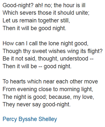 percy shelley poem about death
