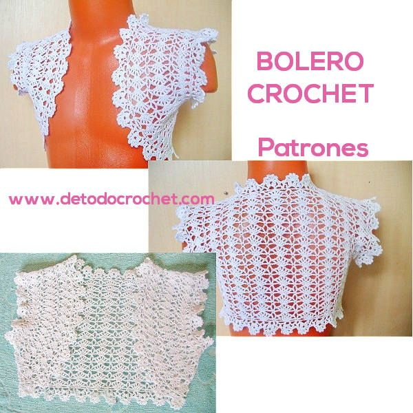 Boleros Crochet Fáciles de Tejer / 3 patrones | Todo crochet ...