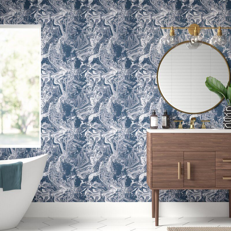 Darien 16 5 L X 20 5 W Peel And Stick Wallpaper Roll Peel And Stick Wallpaper Wallpaper Roll Dining Room Wall Color