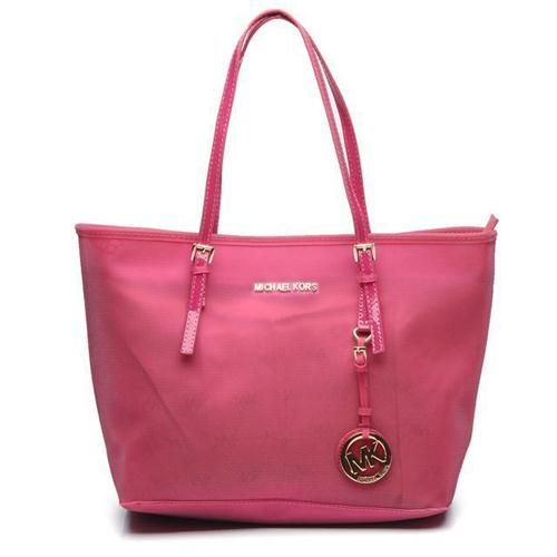 Michael Kors Jet Set Multifunction Saffiano Medium Pink Totes Are High Quality And Cheap Price!