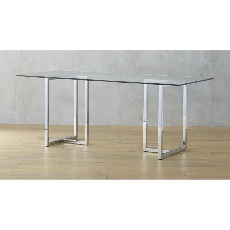 Silverado Chrome 72 Rectangular Dining Table No Lone Rangers Here Two Sleek