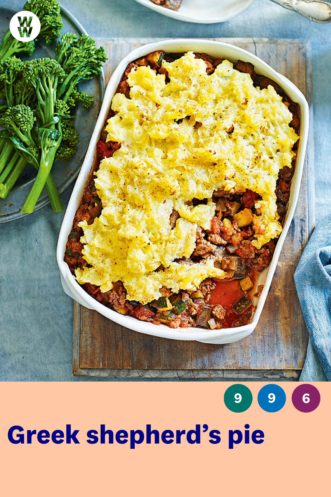 Greek Shepherd S Pie Healthy Recipe Ww Uk Recipe In 2020 Recipes Shepherd S Pie Easy Dishes