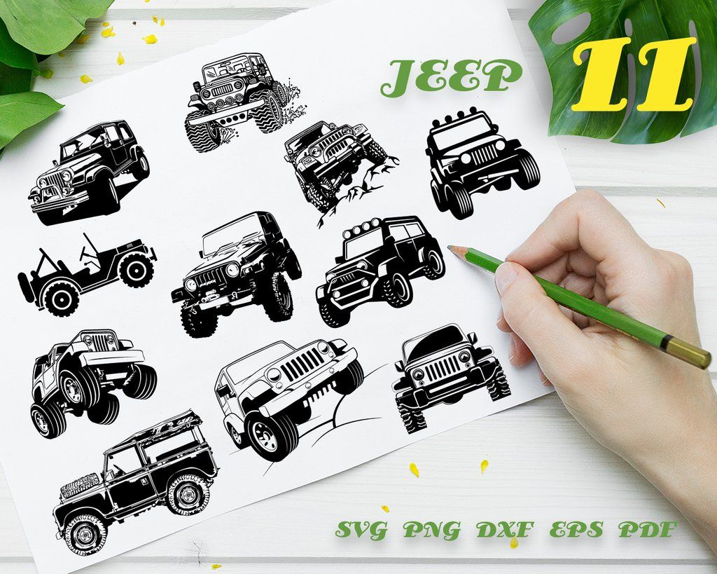Jeep Svg Wrangler Off Road Silhouette Svg Graphics Transport