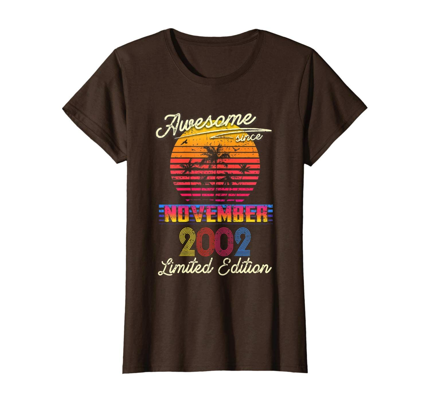 Retro Classic Awesome Since November 2002 17th Birthday T-Shirt #17thbirthday