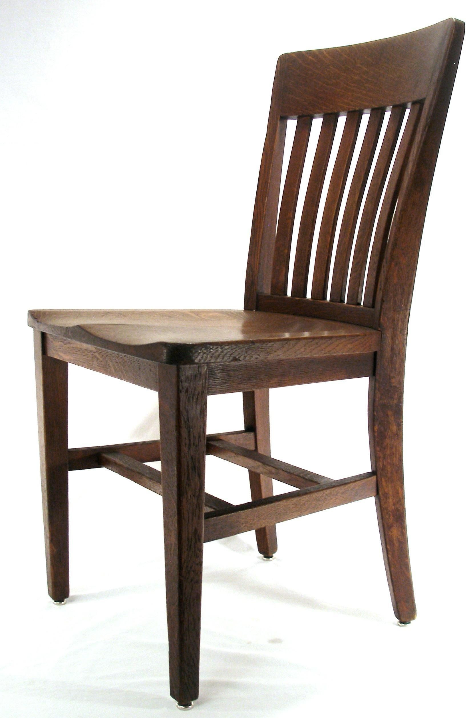 Antique Mission Arts U0026 Crafts B.L. Marble Chair Co. Solid Oak Wood Kitchen  / Desk / Lawyer Hall /Office /Chair. 7062