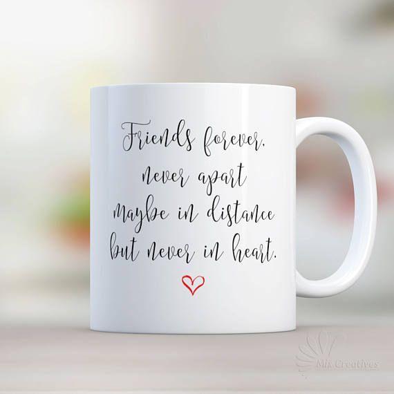 Quotes About Distance Friendship Gorgeous Coffee Mug Long Distance Friendship Mug Personalized Friendship