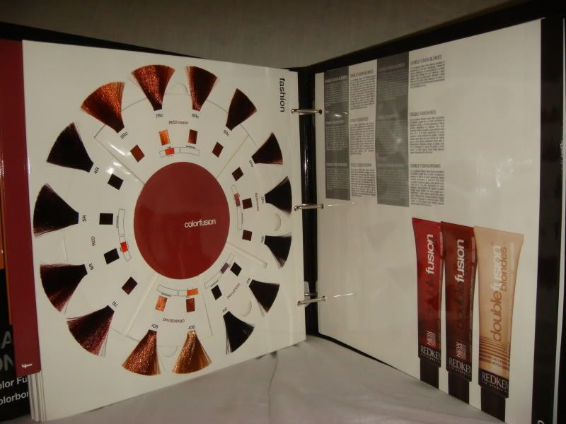 REDKEN Color Fusion Binder Hair Chart Swatch BOOK | Hair chart ...