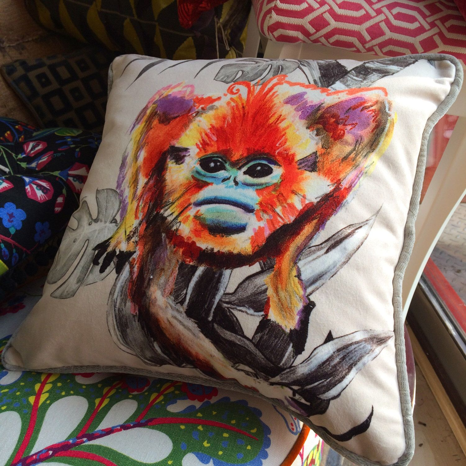 Magic Monkey Bespoke Piped Cushion Piped Cushion Reupholster Scatter Cushions