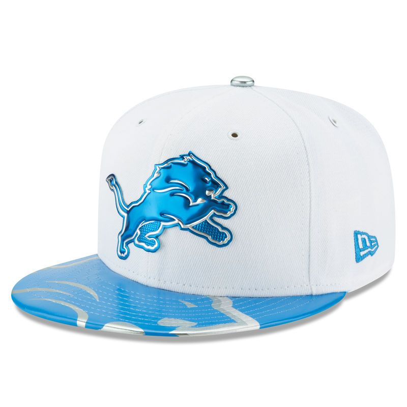 Detroit Lions New Era 2017 NFL Draft Official On Stage 59FIFTY Fitted Hat -  White 7ad66ea1b