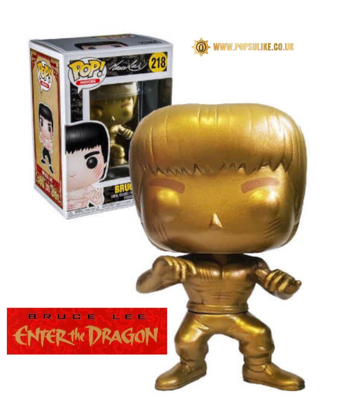Movies #218 Vinyl Figur Funko Film-fanartikel Bruce Lee Gold Version Enter The Dragon Pop Action- & Spielfiguren