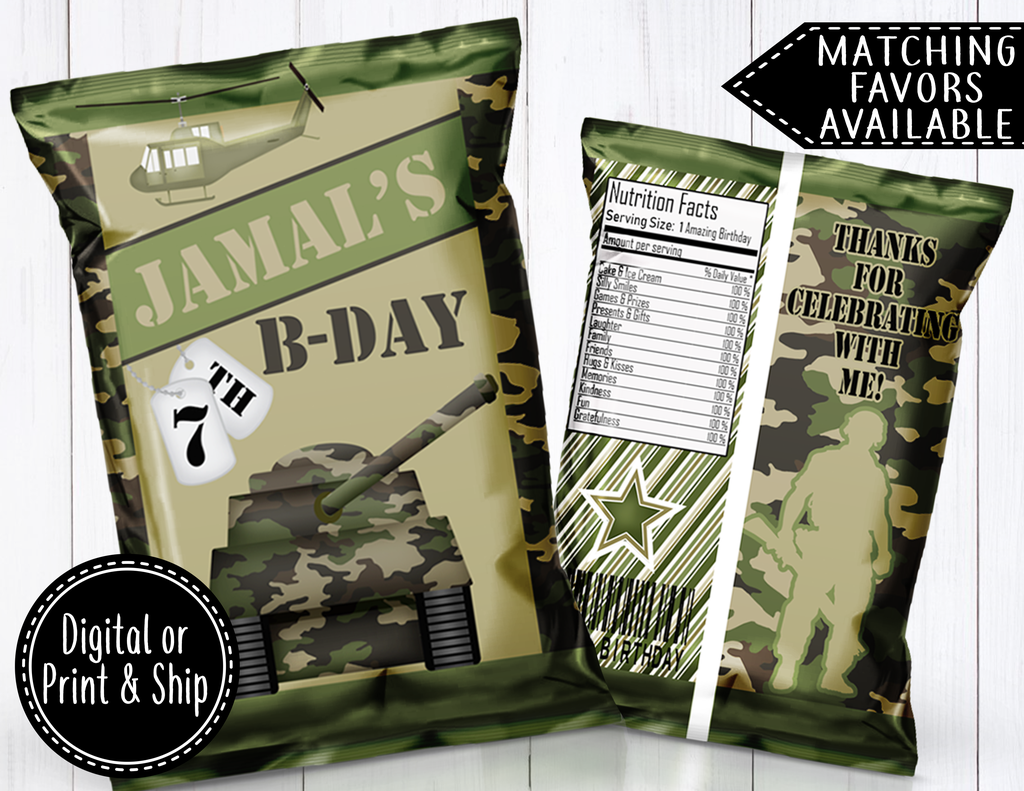 Army/camouflage chip bag in 2020 (With images) Army