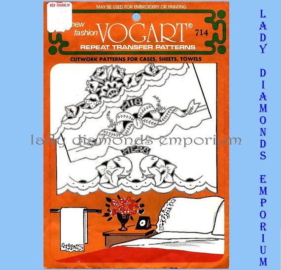 Vintage Vogart Transfer Pattern 714 Cutwork by ladydiamond46 | WWW ...