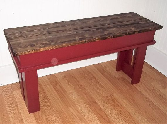 Farmhouse Bench 36 Inch Bench Entryway Bench Foyer Bench Etsy Kitchen Benches Farmhouse Bench Living Room Bench