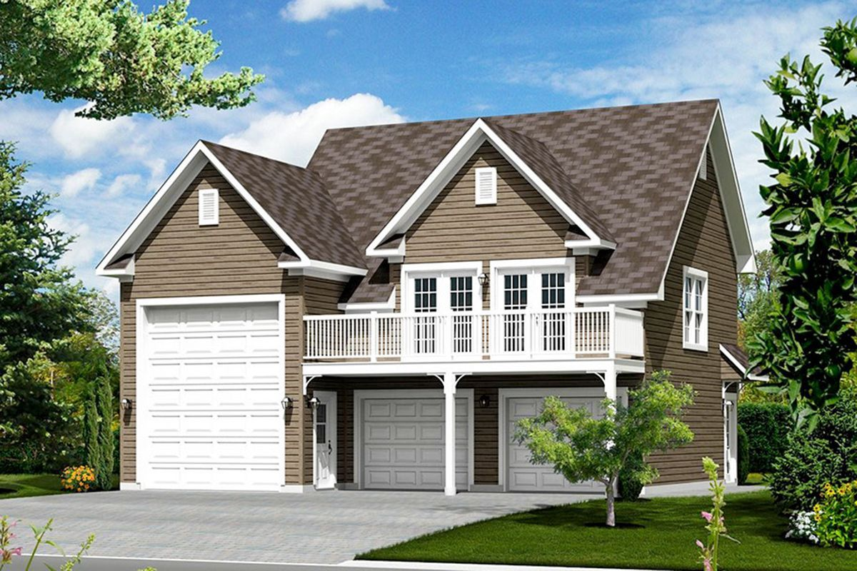 Plan 80931pm Charming Rv Carriage House Plan With Deck Overlooking The Front Garageplans This De Carriage House Plans Garage Apartment Plan Garage Apartments