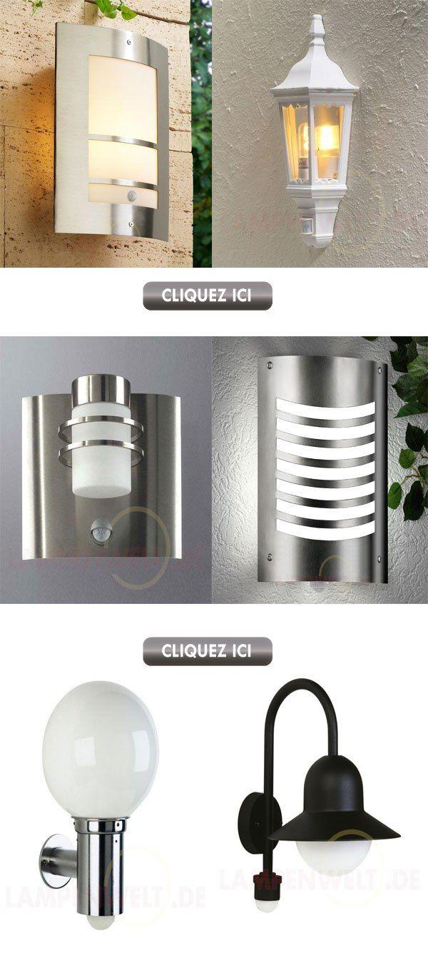 applique maison ext rieur avec d tecteur de mouvement. Black Bedroom Furniture Sets. Home Design Ideas