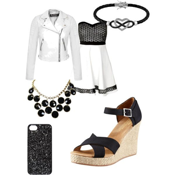 Untitled #8 by babyprinces19 on Polyvore featuring polyvore, fashion, style, Miss Selfridge, TOMS, Jewel Exclusive, MARC BY MARC JACOBS and Kate Spade