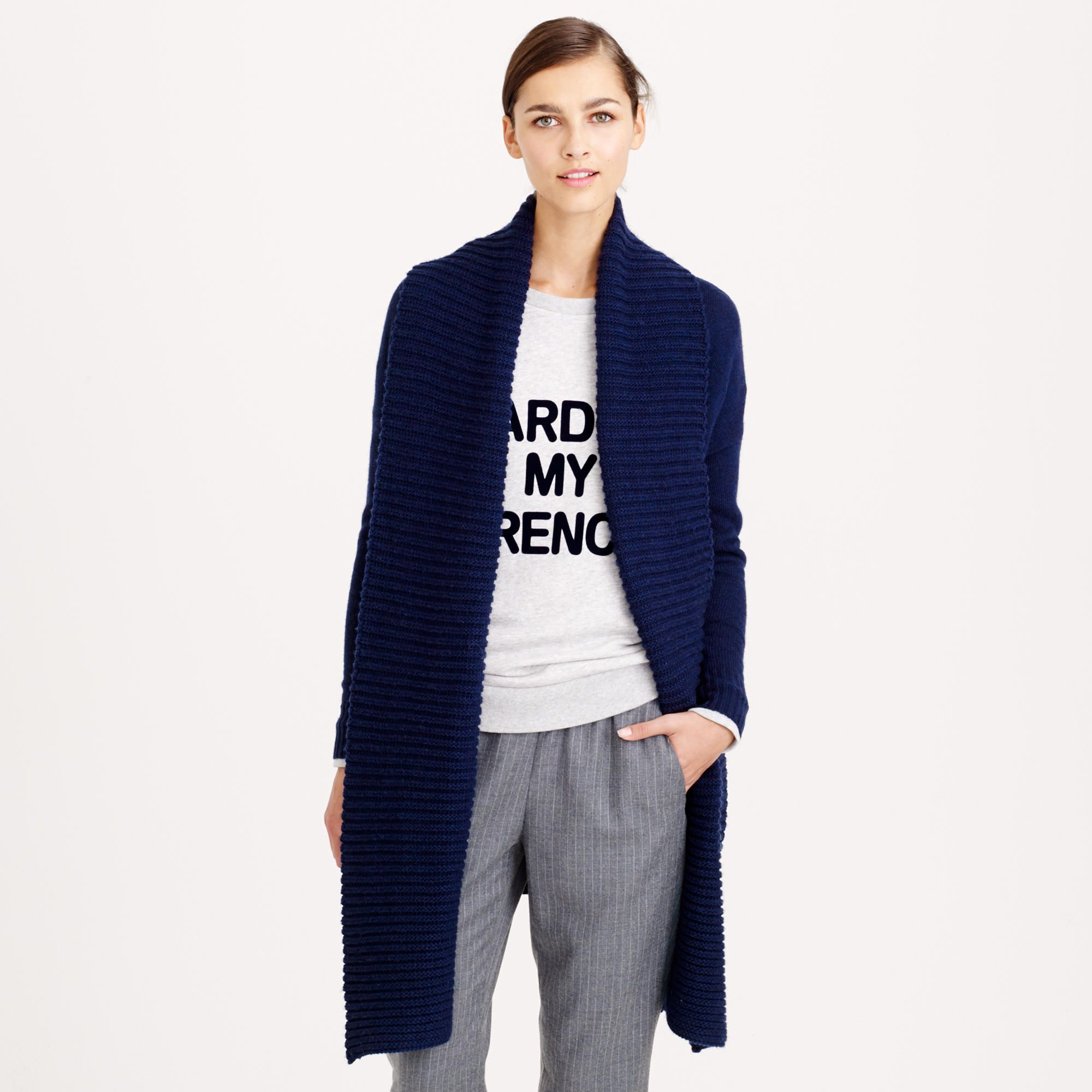 Open shawl-collar cardigan | J.Crew | Lounge | Pinterest | Shawl ...