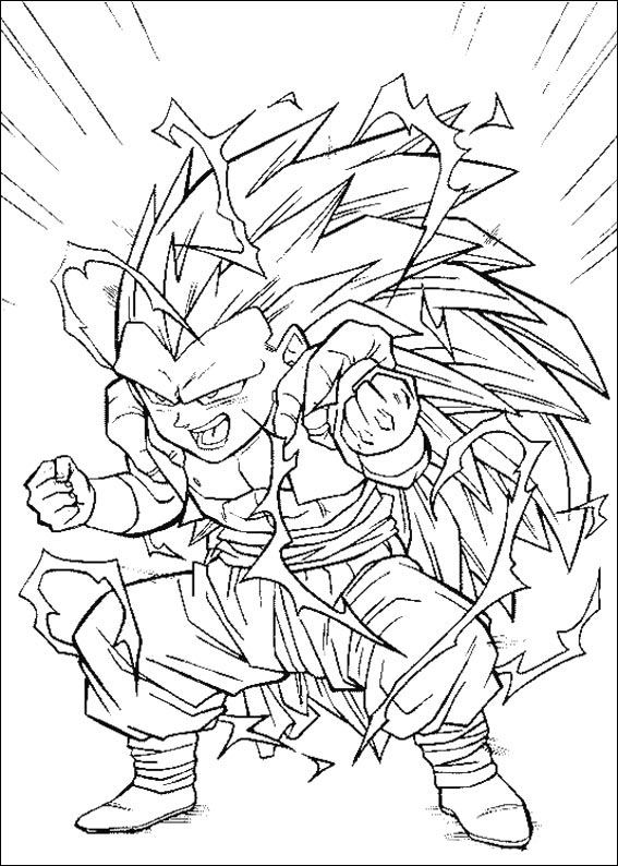 Dragon Ball Z Ausmalbilder. Malvorlagen Zeichnung druckbare nº 90 ...