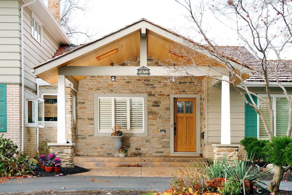 Front porch gable roof exterior traditional with shingle