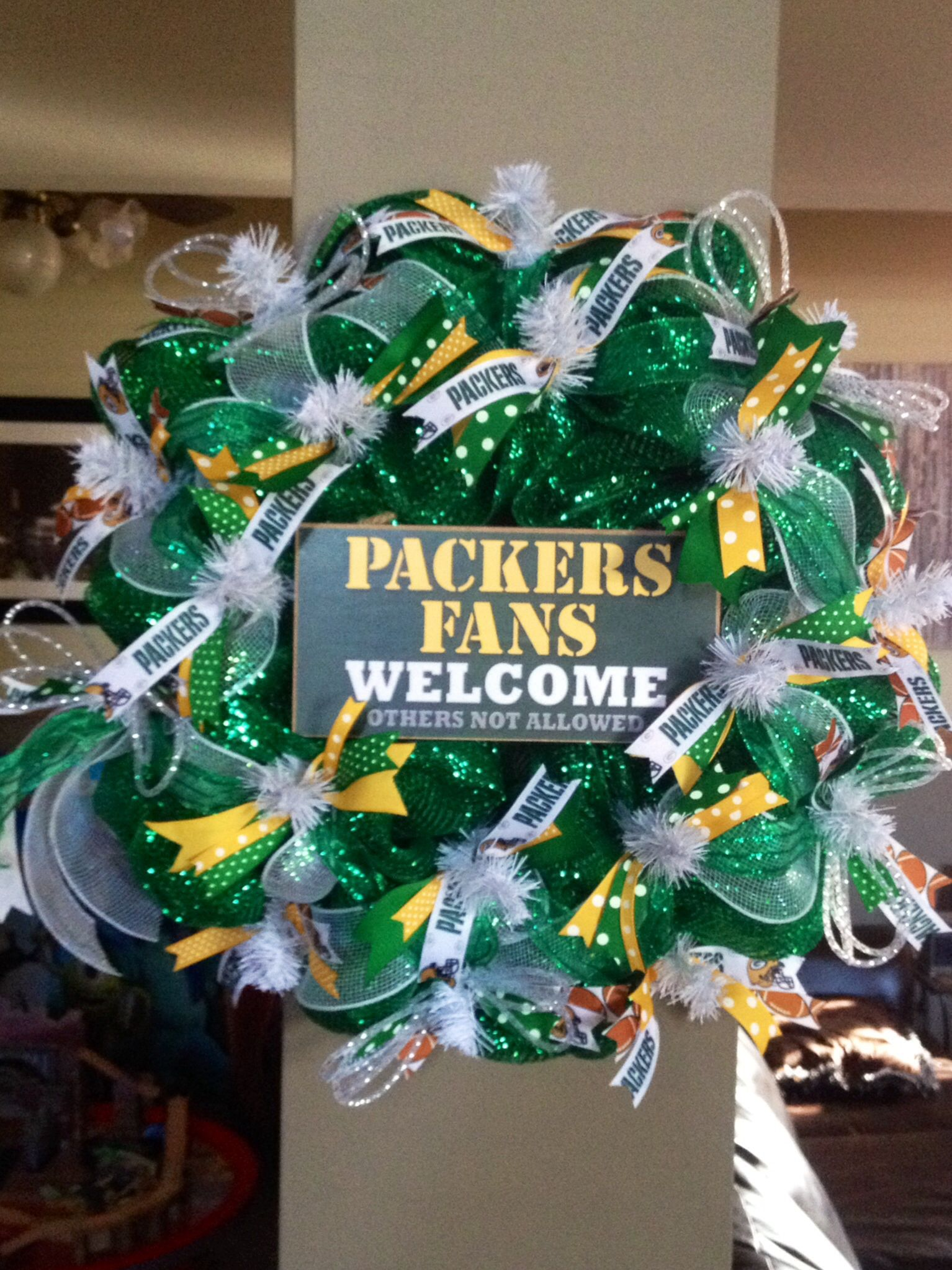 Green Bay Packers wreath Green bay packers wreath, Green