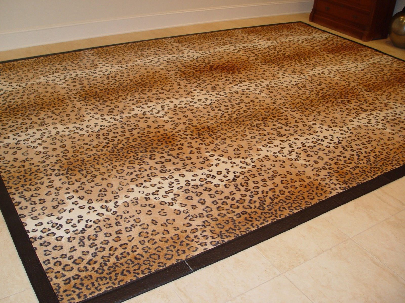 Leopard Print Rug 10 X 14 With Ostrich Leather Trim Leopard Print Rug Zebra Print Rug Cheap Rugs