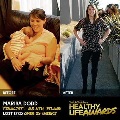 """Celebrating our New Zealand 2013 Slimmer of the Year, Marisa Dodd!   """" I had done Weight Watchers before however I never made it to my goal weight. This time I was determined to reach my goal weight and stay there.""""  Be inspired by Marisa's weight loss story!"""