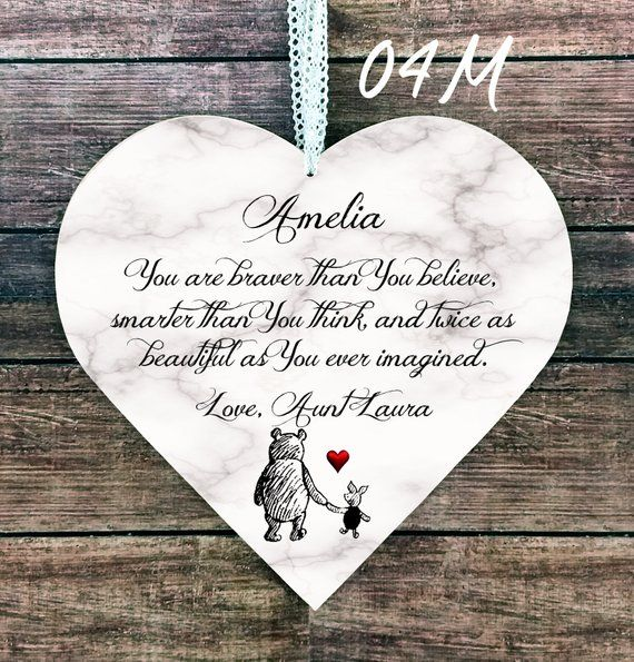 Engravable Personalised Heart Charm for Niece any text//message//wording gift