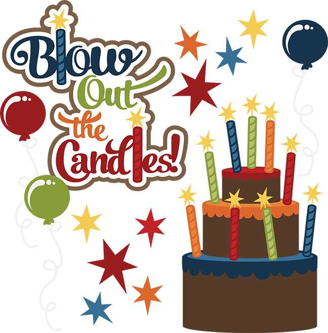 Blow Out The Candles Svg Birthday Clipart Cute Birthday Clip Art