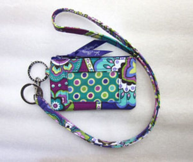 new product cb8bc 03adc New With Tags*Vera Bradley Zip ID Case and Lanyard in Heather | My ...
