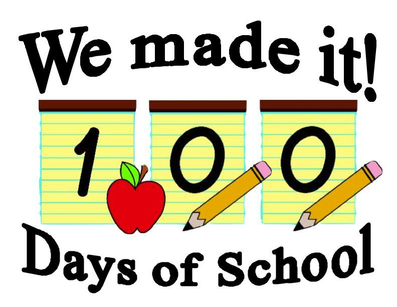 fun 100th day of school sign we made it 100 days of school rh pinterest com 100th day of school clipart black and white Groundhog Day