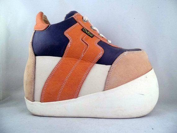 vintage 90s swear alternative platform sneakers club kid