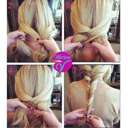 Trança linda e diferente para o fim de semana   #Trança #Cabelo #Hair #VitoriosaLingerie #ModaIntima