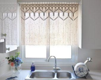 Gordijnen Als Roomdivider : Macrame curtain room divider bohemian macrame wall by kadabros