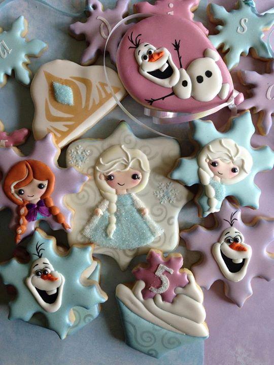 Birthday Frozen Cookies Olivia S 2nd Birthday Pinterest