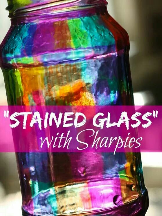 Sharpie Markers And Glass Luminary Idea Diy Sharpie Crafts Diy Jar Crafts Mason Jar Crafts Diy