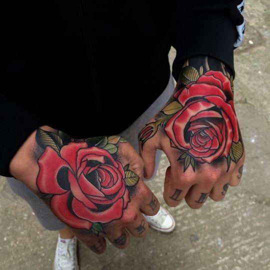 Tatuajeshombres Tatuaje De Rosa En La Mano Tatuajes En La Mano Tatuajes En La Mano Para Hombres