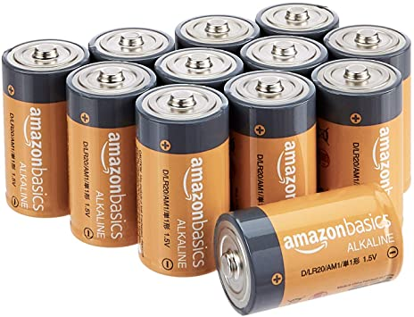 Amazon Com Amazonbasics D Cell 1 5 Volt Everyday Alkaline Batteries Pack Of 12 Appearance May Vary H Alkaline Battery Battery Pack New Electronic Gadgets