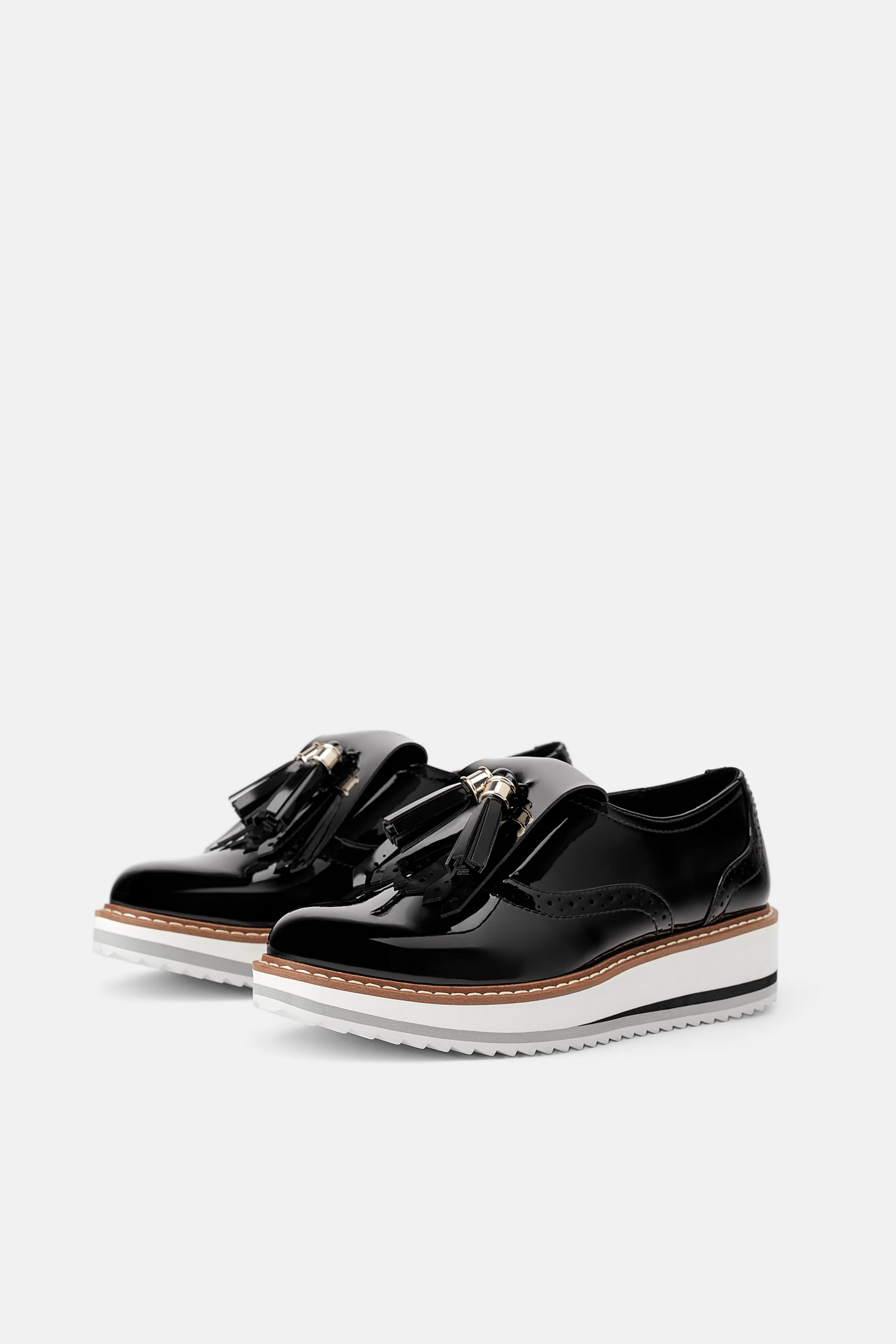 718433c82 Patent finish platform derby shoes in 2019 | bUY tHIS! | Derby shoes ...