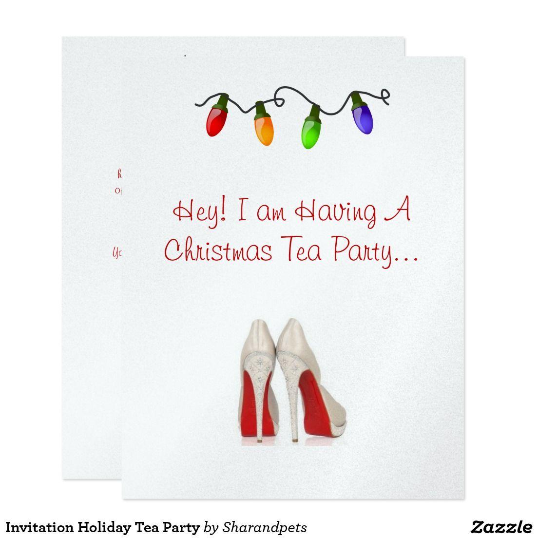 Invitation Holiday Tea Party | Tea parties
