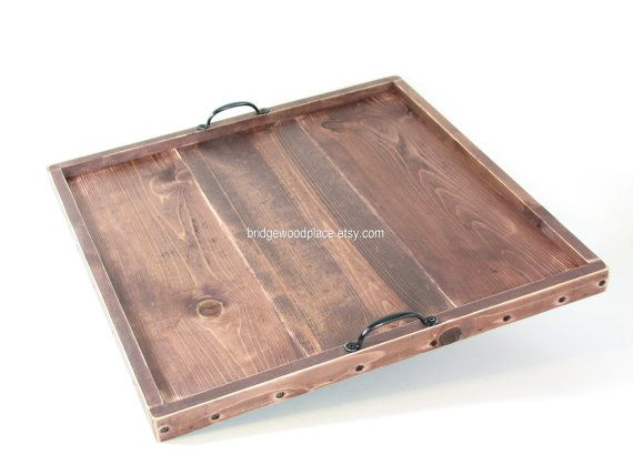 Ottoman Tray Large 23 X 23 Wooden Coffee Table Tray Serving Tray Wedding  Gift, Anniversary